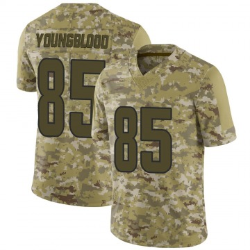 Youth Nike Los Angeles Rams Jack Youngblood Camo 2018 Salute to Service Jersey - Limited