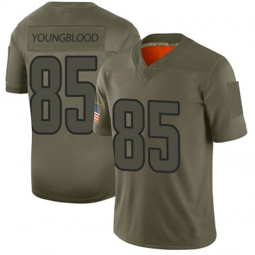 Youth Nike Los Angeles Rams Jack Youngblood Camo 2019 Salute to Service Jersey - Limited
