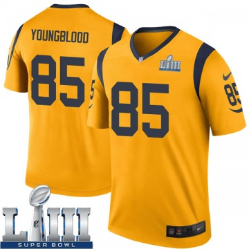 Youth Nike Los Angeles Rams Jack Youngblood Gold Color Rush Super Bowl LIII Bound Jersey - Legend