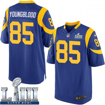 Youth Nike Los Angeles Rams Jack Youngblood Royal Alternate Super Bowl LIII Bound Jersey - Game