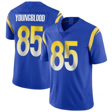 Youth Nike Los Angeles Rams Jack Youngblood Royal Alternate Vapor Untouchable Jersey - Limited