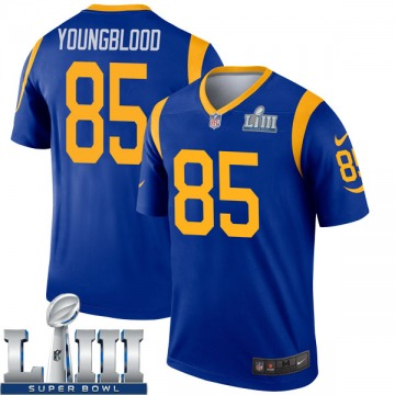 Youth Nike Los Angeles Rams Jack Youngblood Royal Super Bowl LIII Bound Jersey - Legend