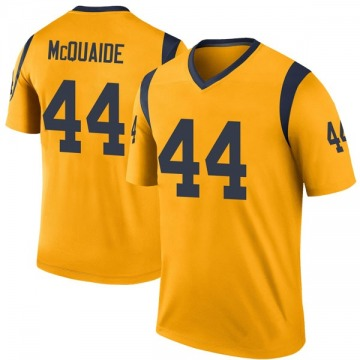 Youth Nike Los Angeles Rams Jake McQuaide Gold Color Rush Jersey - Legend
