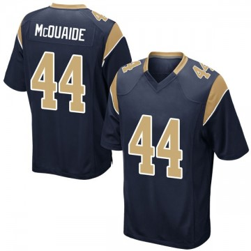 Youth Nike Los Angeles Rams Jake McQuaide Navy Team Color Jersey - Game