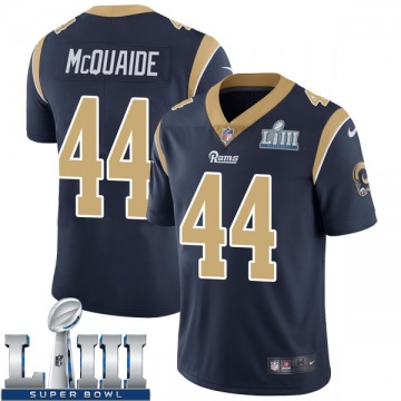Youth Nike Los Angeles Rams Jake McQuaide Navy Team Color Super Bowl LIII Bound Vapor Untouchable Jersey - Limited