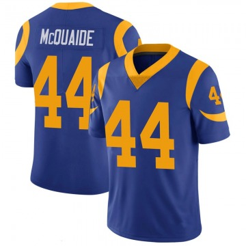 Youth Nike Los Angeles Rams Jake McQuaide Royal 100th Vapor Jersey - Limited