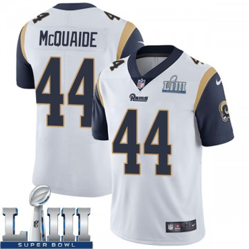 Youth Nike Los Angeles Rams Jake McQuaide White Super Bowl LIII Bound Vapor Untouchable Jersey - Limited