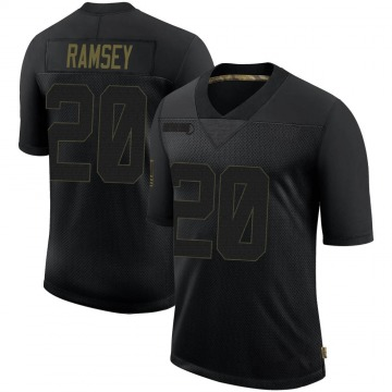 Youth Los Angeles Rams Jalen Ramsey Black Jalen ey 2020 Salute To Service Jersey - Limited