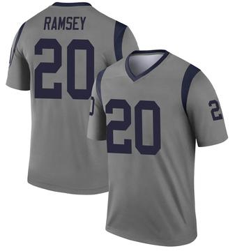 Youth Nike Los Angeles Rams Jalen Ramsey Gray Jalen ey Inverted Jersey - Legend