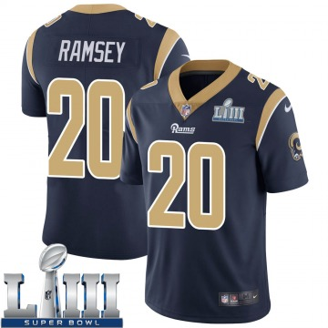 Youth Nike Los Angeles Rams Jalen Ramsey Navy Jalen ey Team Color Super Bowl LIII Bound Vapor Untouchable Jersey - Limited