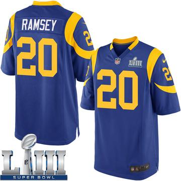 Youth Nike Los Angeles Rams Jalen Ramsey Royal Jalen ey Alternate Super Bowl LIII Bound Jersey - Game
