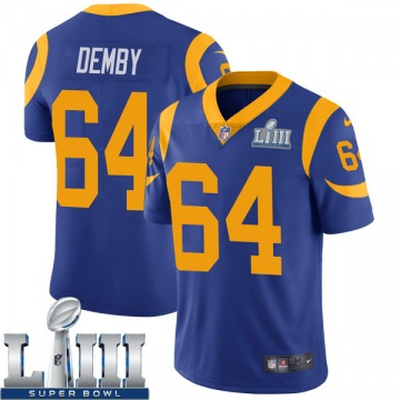Youth Nike Los Angeles Rams Jamil Demby Royal Alternate Super Bowl LIII Bound Vapor Untouchable Jersey - Limited