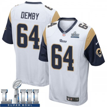 Youth Nike Los Angeles Rams Jamil Demby White Super Bowl LIII Bound Jersey - Game