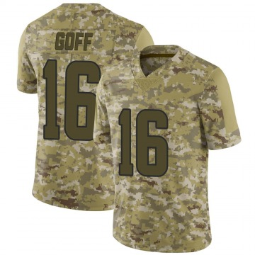Youth Nike Los Angeles Rams Jared Goff Camo 2018 Salute to Service Jersey - Limited
