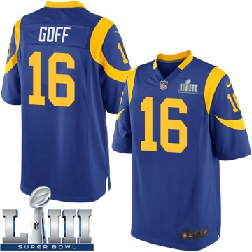 Youth Nike Los Angeles Rams Jared Goff Royal Alternate Super Bowl LIII Bound Jersey - Game
