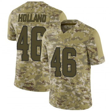 Youth Nike Los Angeles Rams Jeff Holland Camo 2018 Salute to Service Jersey - Limited