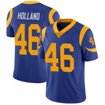 Youth Nike Los Angeles Rams Jeff Holland Royal 100th Vapor Jersey - Limited