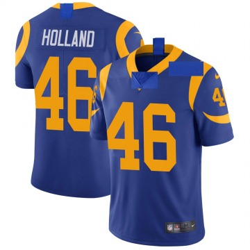 Youth Nike Los Angeles Rams Jeff Holland Royal Alternate Vapor Untouchable Jersey - Limited