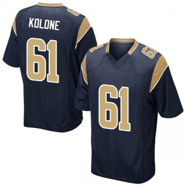 Youth Nike Los Angeles Rams Jeremiah Kolone Navy Team Color Jersey - Game