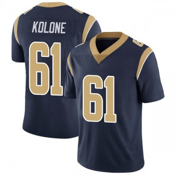 Youth Nike Los Angeles Rams Jeremiah Kolone Navy Team Color Vapor Untouchable Jersey - Limited