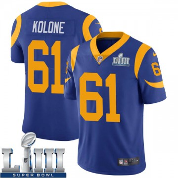 Youth Nike Los Angeles Rams Jeremiah Kolone Royal Alternate Super Bowl LIII Bound Vapor Untouchable Jersey - Limited
