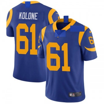 Youth Nike Los Angeles Rams Jeremiah Kolone Royal Alternate Vapor Untouchable Jersey - Limited