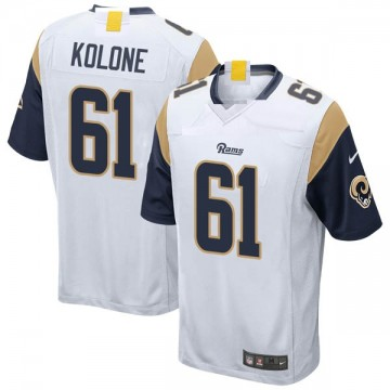 Youth Nike Los Angeles Rams Jeremiah Kolone White Jersey - Game