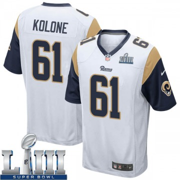 Youth Nike Los Angeles Rams Jeremiah Kolone White Super Bowl LIII Bound Jersey - Game