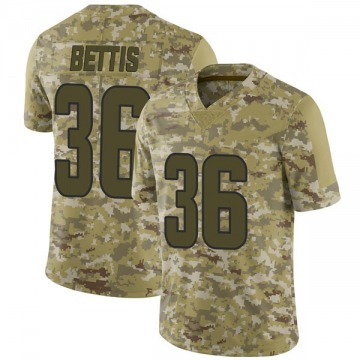 Youth Nike Los Angeles Rams Jerome Bettis Camo 2018 Salute to Service Jersey - Limited