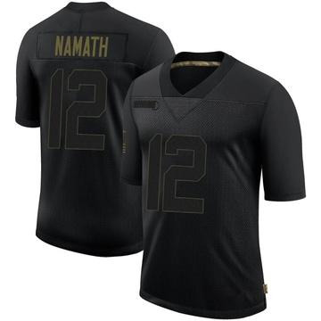 Youth Nike Los Angeles Rams Joe Namath Black 2020 Salute To Service Jersey - Limited