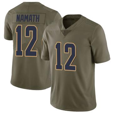 Youth Nike Los Angeles Rams Joe Namath Green 2017 Salute to Service Jersey - Limited