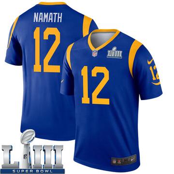 Youth Nike Los Angeles Rams Joe Namath Royal Super Bowl LIII Bound Jersey - Legend