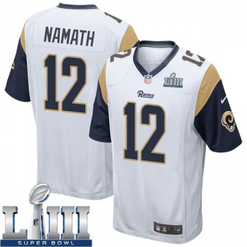 Youth Nike Los Angeles Rams Joe Namath White Super Bowl LIII Bound Jersey - Game
