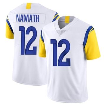 Youth Nike Los Angeles Rams Joe Namath White Vapor Untouchable Jersey - Limited