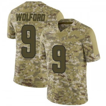 Youth Nike Los Angeles Rams John Wolford Camo 2018 Salute to Service Jersey - Limited