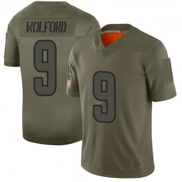 Youth Nike Los Angeles Rams John Wolford Camo 2019 Salute to Service Jersey - Limited