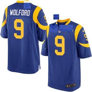 Youth Nike Los Angeles Rams John Wolford Royal Alternate Jersey - Game