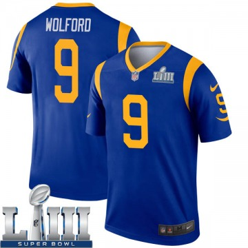 Youth Nike Los Angeles Rams John Wolford Royal Super Bowl LIII Bound Jersey - Legend