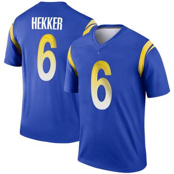 Youth Nike Los Angeles Rams Johnny Hekker Royal Jersey - Legend