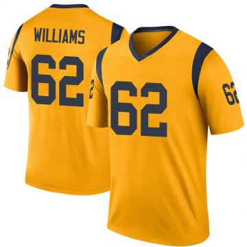 Youth Nike Los Angeles Rams Jonah Williams Gold Color Rush Jersey - Legend