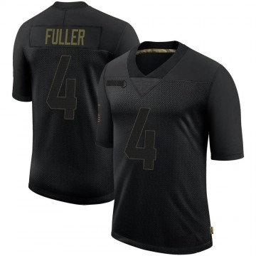 Youth Nike Los Angeles Rams Jordan Fuller Black 2020 Salute To Service Jersey - Limited