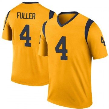 Youth Nike Los Angeles Rams Jordan Fuller Gold Color Rush Jersey - Legend