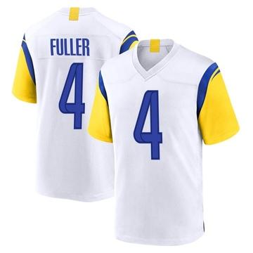 Youth Nike Los Angeles Rams Jordan Fuller White Jersey - Game