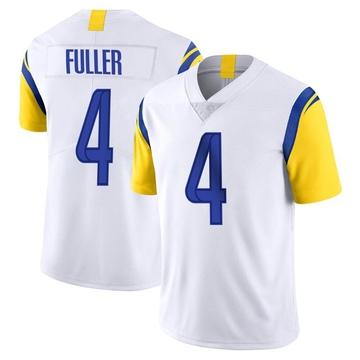 Youth Nike Los Angeles Rams Jordan Fuller White Vapor Untouchable Jersey - Limited