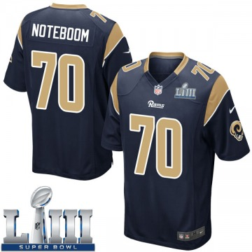 Youth Nike Los Angeles Rams Joseph Noteboom Navy Team Color Super Bowl LIII Bound Jersey - Game