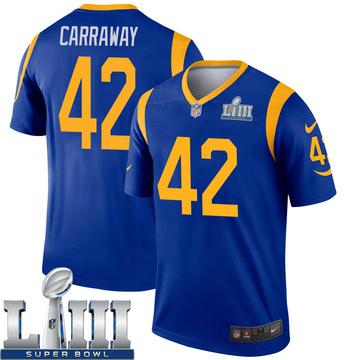 Youth Nike Los Angeles Rams Josh Carraway Royal Super Bowl LIII Bound Jersey - Legend