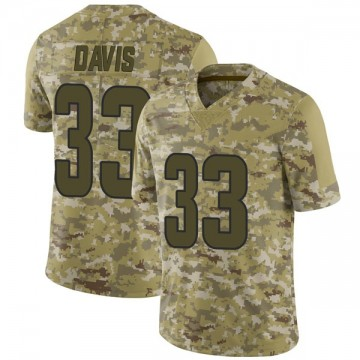 Youth Nike Los Angeles Rams Justin Davis Camo 2018 Salute to Service Jersey - Limited