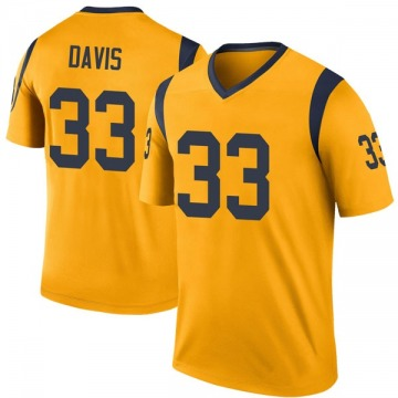 Youth Nike Los Angeles Rams Justin Davis Gold Color Rush Jersey - Legend