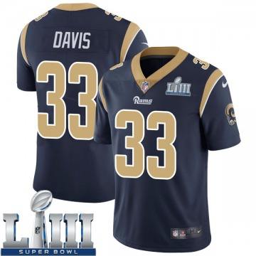 Youth Nike Los Angeles Rams Justin Davis Navy Team Color Super Bowl LIII Bound Vapor Untouchable Jersey - Limited