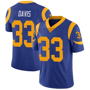 Youth Nike Los Angeles Rams Justin Davis Royal 100th Vapor Jersey - Limited